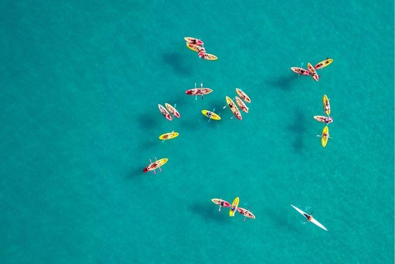 kayaking and snorkeling tour in La Jolla, San Diego, California