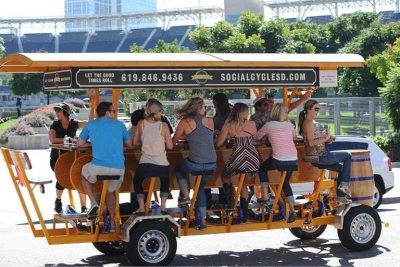 party biking tour in San Diego, California