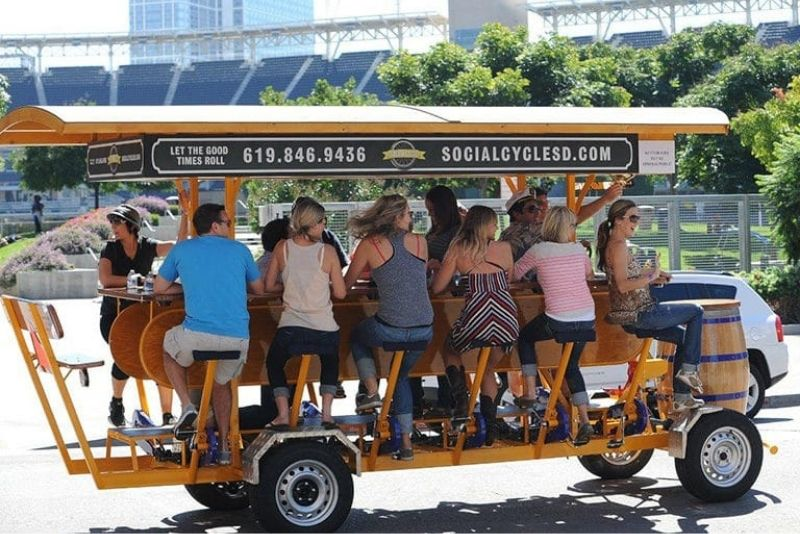 party biking tour in San Diego, California