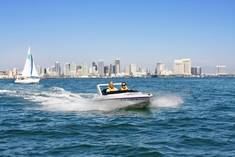 self-guided speed boat adventure in San Diego, California