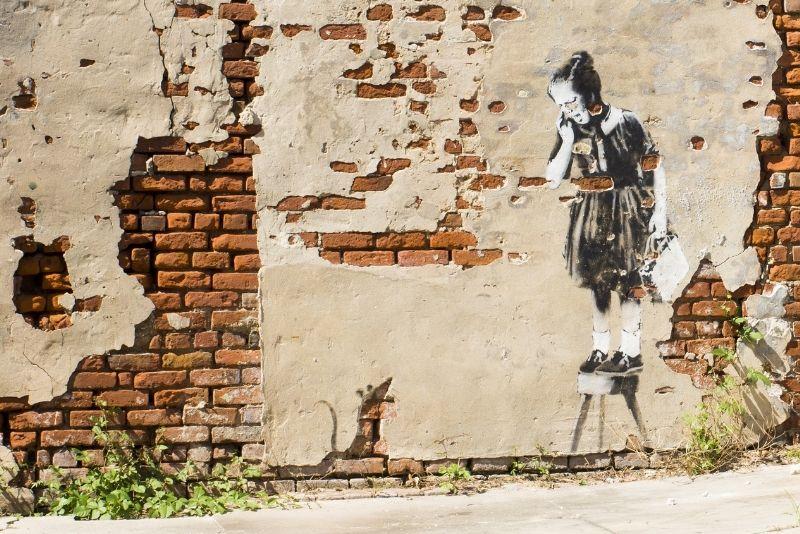 Banksy artwork in New Orleans