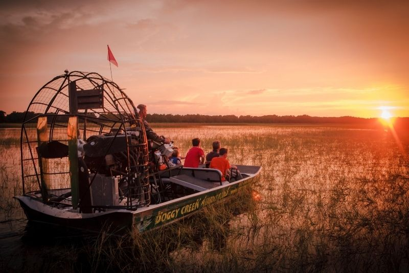 Boggy Creek sunset airboat tour