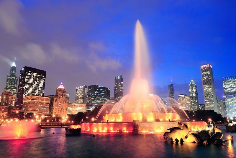 Buckingham Fountain light show, Chicago