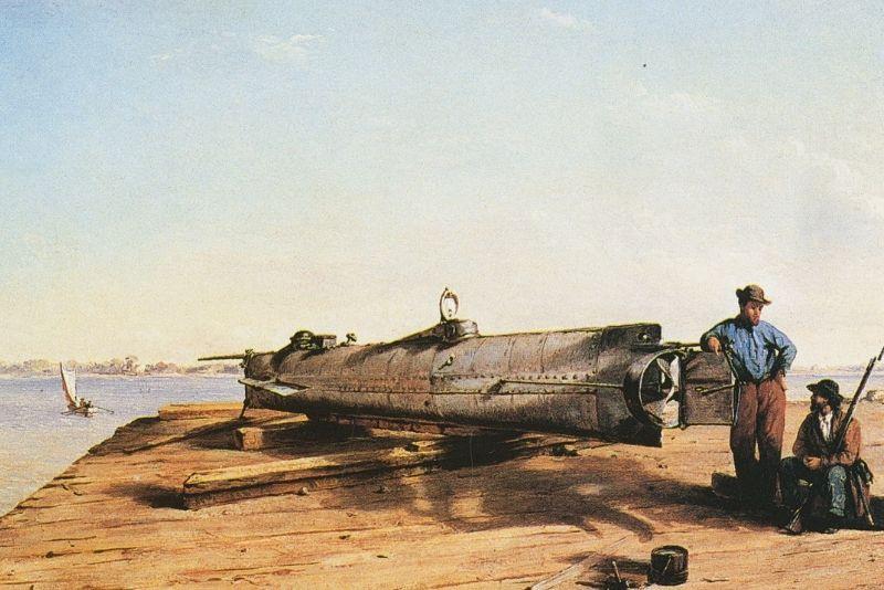 H.L. Hunley submarine, Charleston