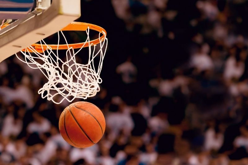 Hawks basketball game at State Farm Arena, Atlanta
