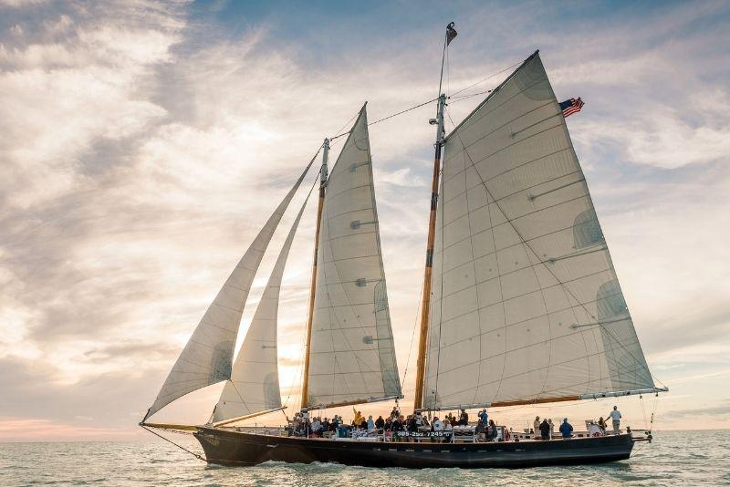 Schooner America 2.0 sunset sailing tour, Key West, Florida