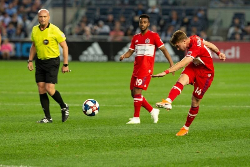 Chicago Fire soccer team at Soldier Field, Chicago
