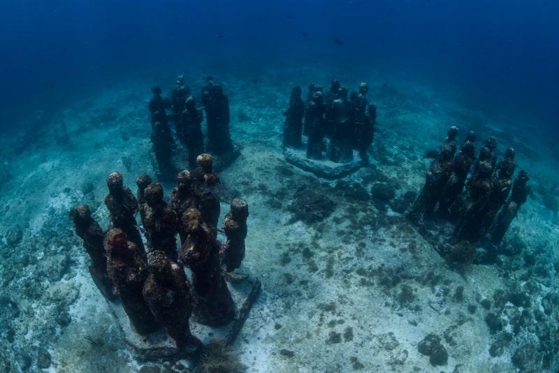 Underwater Museum Punta Nizuc, Cancun, Mexico