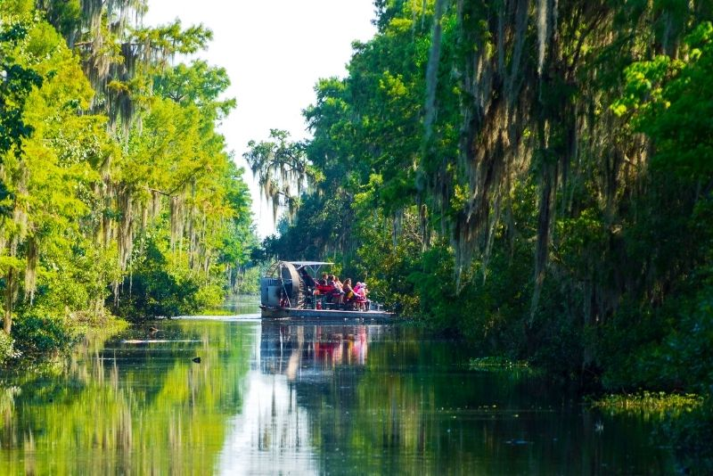 airboat swamp tour in New Orleans