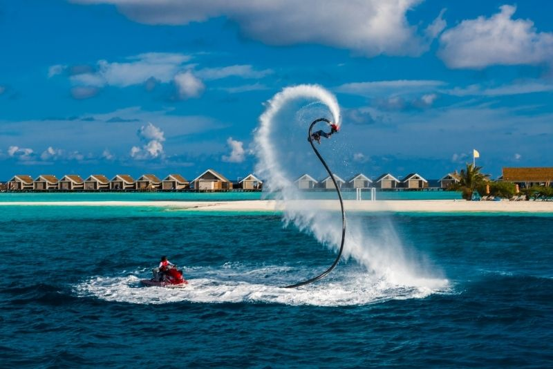 flyboard in Cancun, Mexico