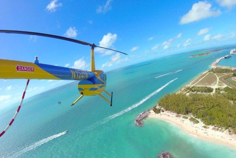 helicopter tour, Key West, Florida
