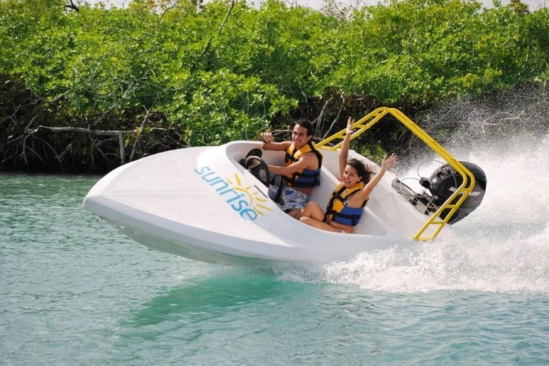 jet boat in Cancun, Mexico
