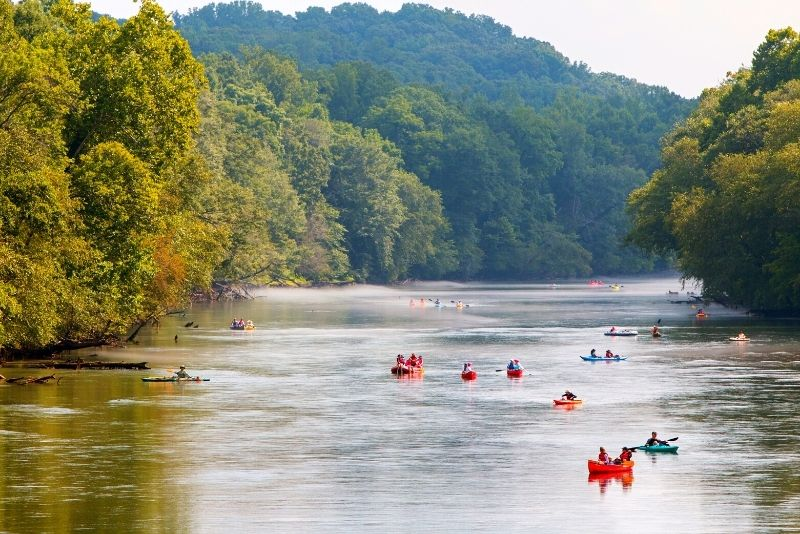 kayak in the Chattahoochee River National Recreation Area
