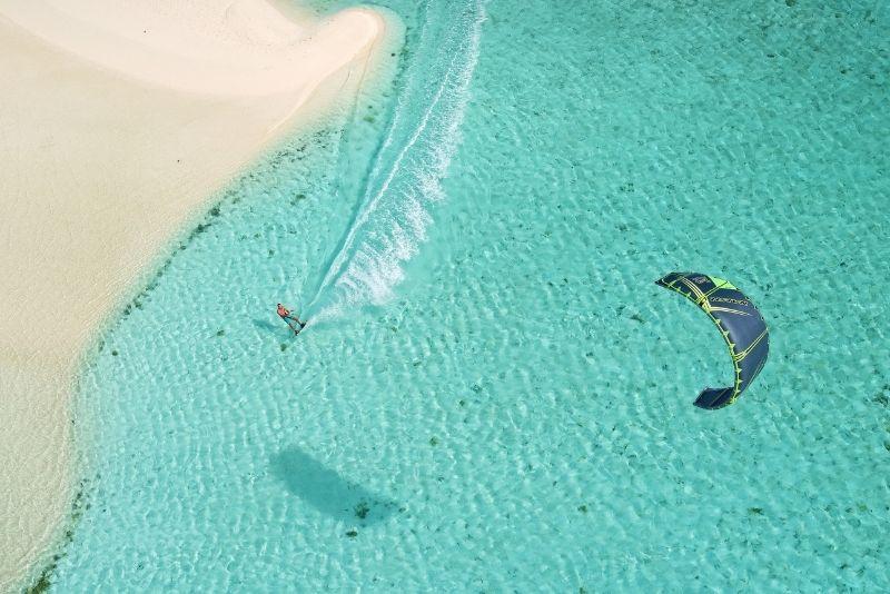 kitesurfing in Cancun, Mexico