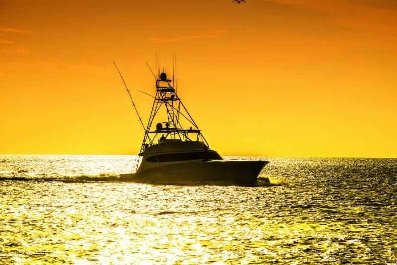 offshore fishing in Cancun, Mexico