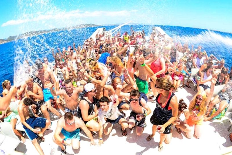 party boat in Cancun, Mexico