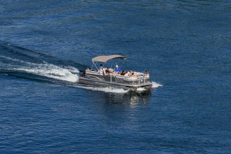 private boat in Chicago