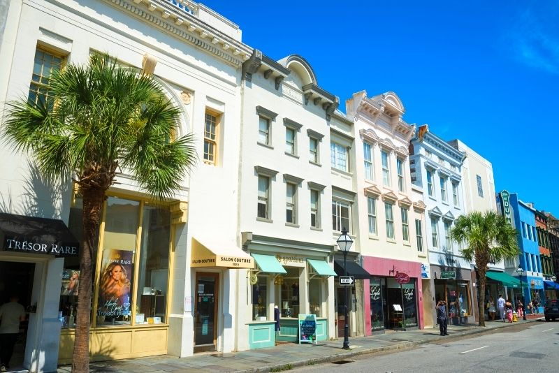 shopping in King Street, Charleston