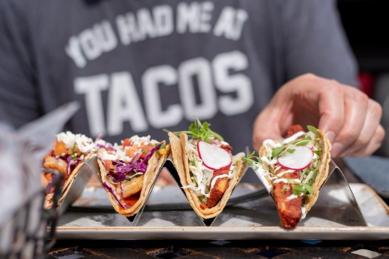 tacos food tour in Cancun, Mexico