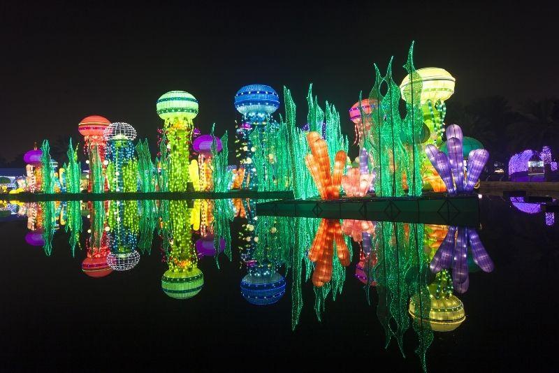 Resplandor del jardín de Dubai