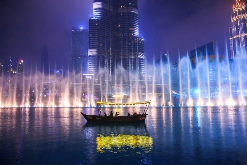 Espectáculo de fuentes de Dubai