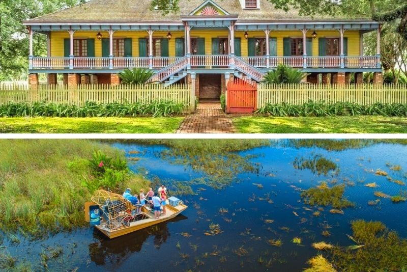 Experience Cajun Country Swamp Boat Adventure and Plantations Full-Day Tour from New Orleans
