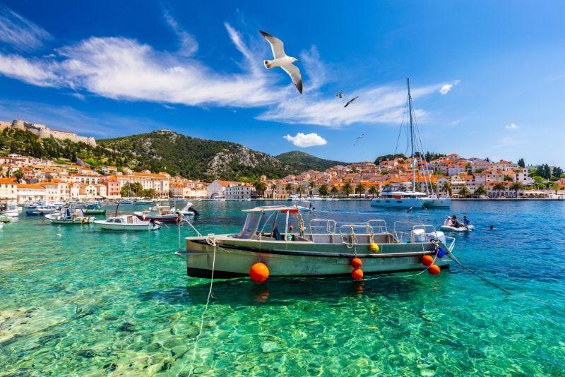 Excursion en bateau sur l'île de Hvar au départ de Split