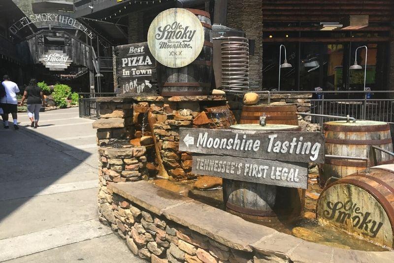 Moonshine distillery tour