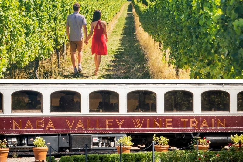 Napa Valley Wine Train from San Francisco Gourmet Lunch, Wine Tasting and Vineyard Tour