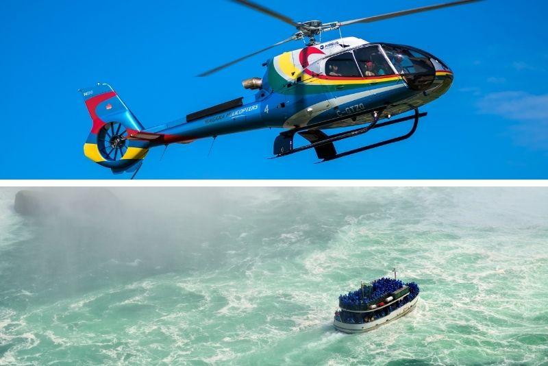 Niagara Falls, Canada Helicopter Tour & Boat Ride