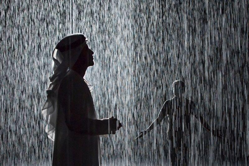Rain Room de la Sharjah Art Foundation, Dubái