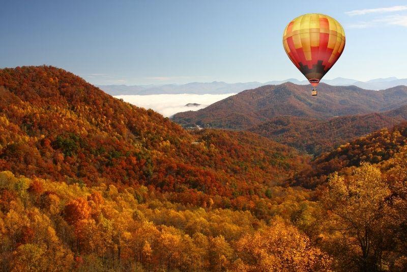 Smoky Mountains hot air balloon