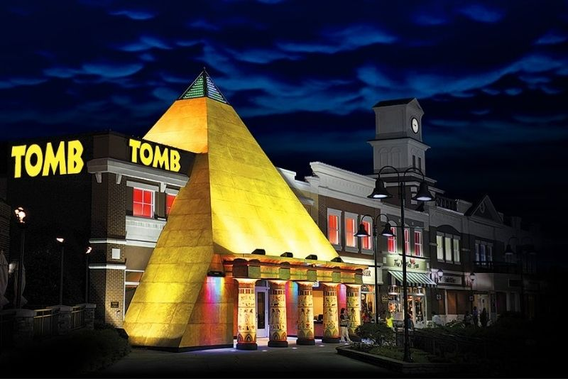 Tomb escape game, Pigeon Forge
