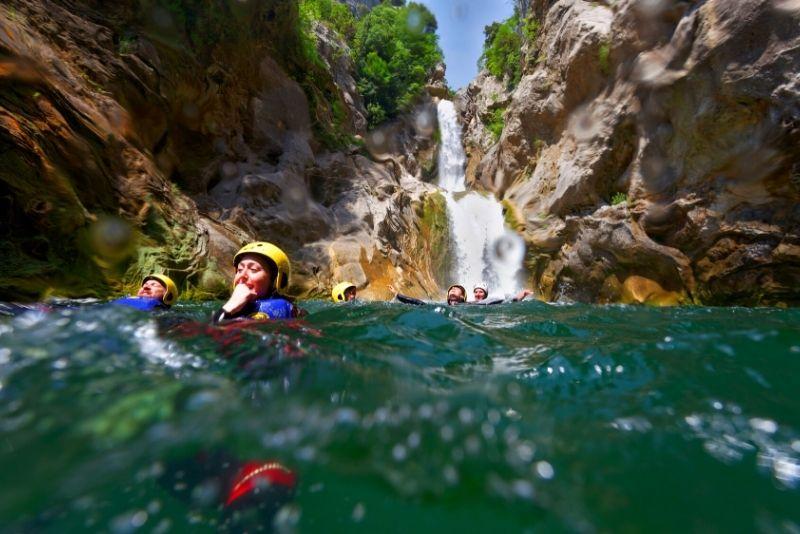 canyoning sur la rivière Cetina