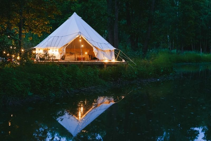 glamping in the Smoky Mountains