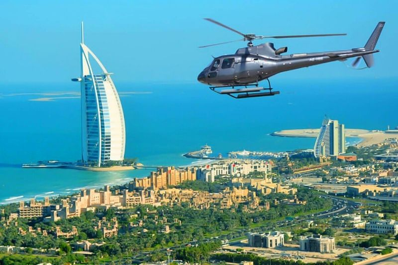 tour en helicóptero en Dubai
