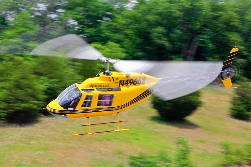 helicopter tour in Pigeon Forge
