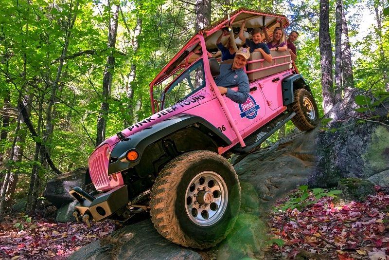 jeep tour through the Smoky Mountains