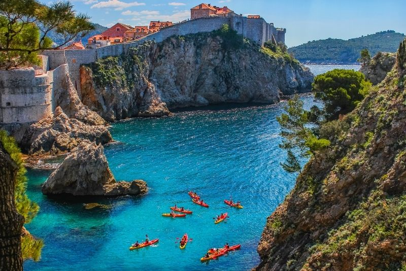 kayak tour from Dubrovnik to Lokrum Island