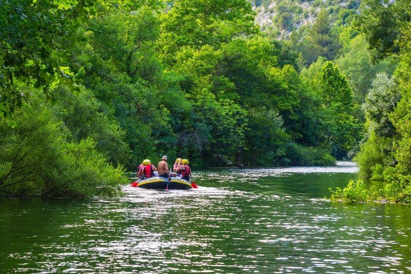 rafting sur la rivière Cetina