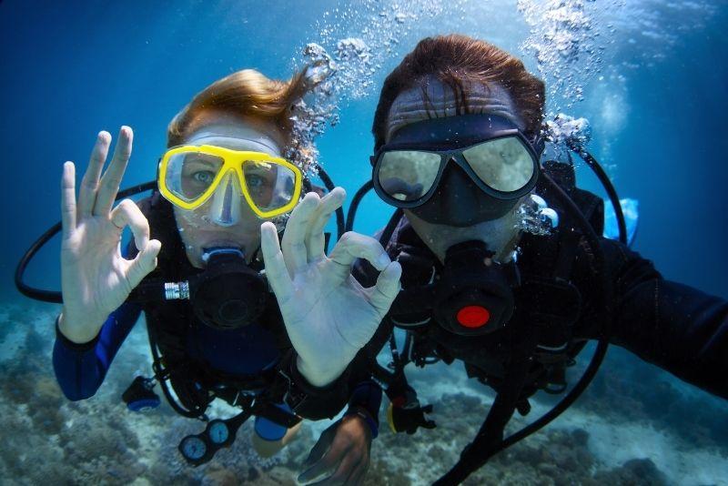 scuba diving at Fujairah