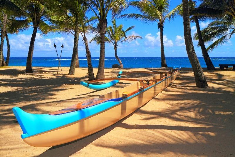 Hawaiian canoe tour in Maui
