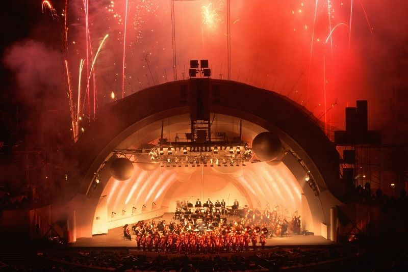 concert at the Hollywood Bowl