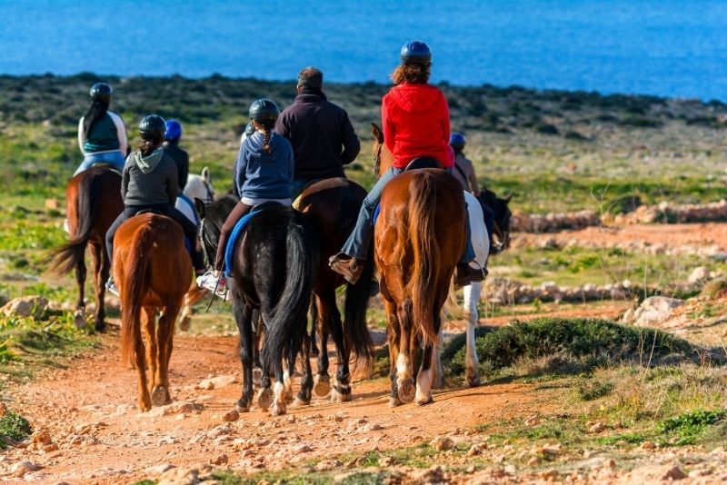 Horse Riding in Golden Bay, Malta