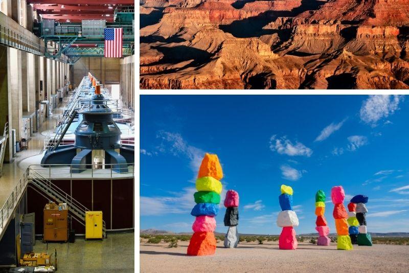 Las Vegas Grand Canyon, Hoover Dam, 7 Magic Mountains Tour