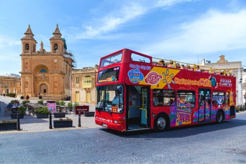 Valletta hop on hop off bus tour