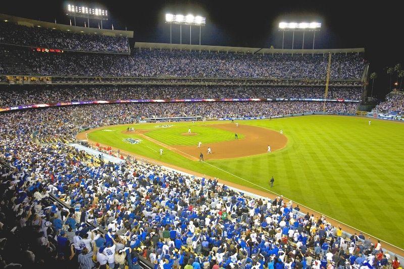 baseball at Dodger Stadium, Los Angeles