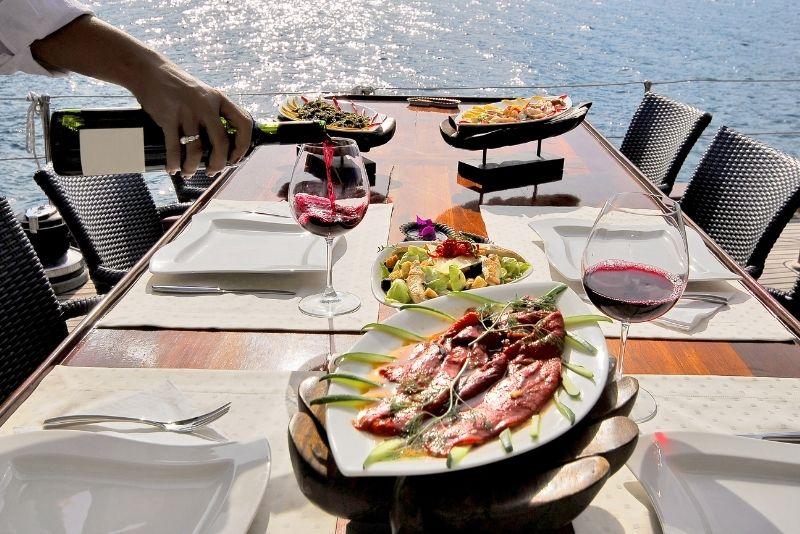 dinner cruise at Marina Del Rey