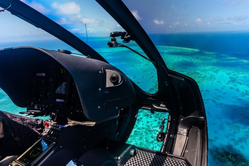 helicopter tour over the Great Barrier Reef