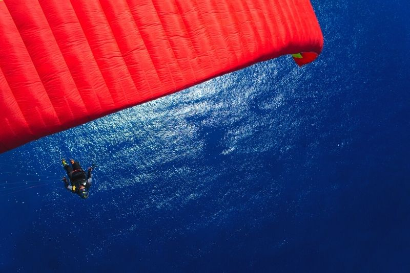 paragliding over Malibu